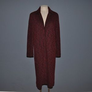 New ANN TAYLOR Red Knit Cardigan Duster NWT A6